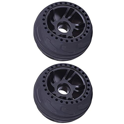 MARMODAY Neumático de goma Rueda Profesional Patines Eléctricos Neumáticos Sólidos Negro 2pcs