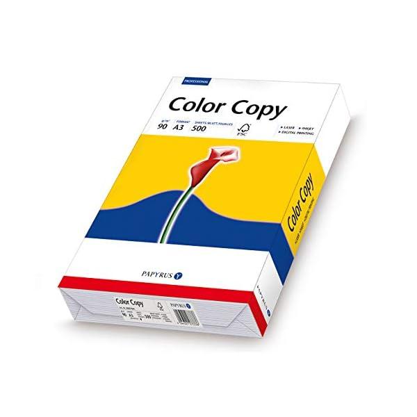 Papyrus Color Copy A3 A3 (297×420 mm) Satén Blanco – Papel (A3 (297×420 mm), Impresión láser/inyección de tinta, Satén, Blanco, 90 g/m², 500 hojas)