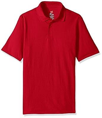 Hanes Men's Short Sleeve X-Temp W/ FreshIQ Polo, Deep Red, XX-Large from Hanes Branded Printwear