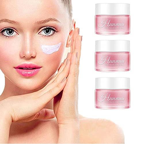 AILING - Hunmui Pore Base Gel Crème Anti-âge Rides, Correcteur de Maquillage Ne Décolle pas Maquillage, Primer Hydratant, Crème Isotherme Rose pour Peau Lisse (3 pièces)