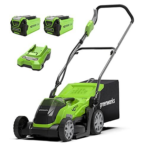 Greenworks Cordless Lawnmower G40LM35K2X (Li-Ion 40 V 35 cm Cutting...