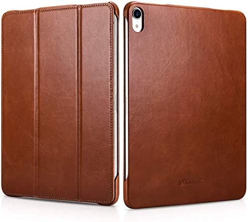 iCarer iPad Pro 11 inch 2018 iPad Air 4 10 9 2020 Leather Case Vintage Style Genuine Leather product image