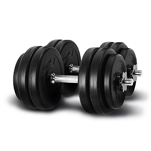 Giantex Weight Dumbbell Set 66 LB Adjustable Cap Gym Barbell Plates Body Workout