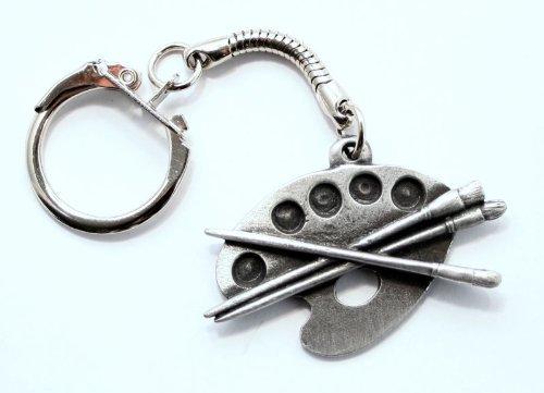 Hoardersworld Künstler Paint Palette Schlüsselanhänger (Schlüsselanhänger), Feines Englisches Zinn, handgefertigt (H)