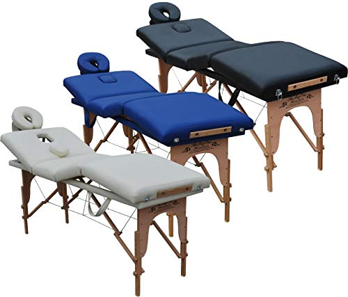 Beltom Mobile Massagetisch Massageliege Massagebank 4 zonen klappbar Kosmetikliege +TA. - Creme