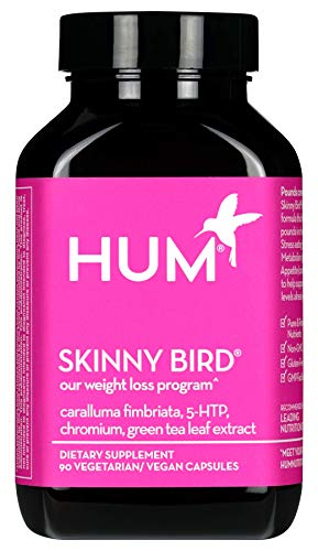 HUM Skinny Bird - Weight Management Support Supplement - Green Tea Extract, 5-HTP, Chromium & Caralluma Fimbriata Boost Metabolism, Help Minimize Stress Response & Curb Appetite (90 Vegan Capsules)