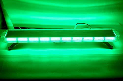 ZONCH Barre lumineuse d'urgence COB 88 W 120 cm pour véhicules de pompiers 12 V 24 V Vert