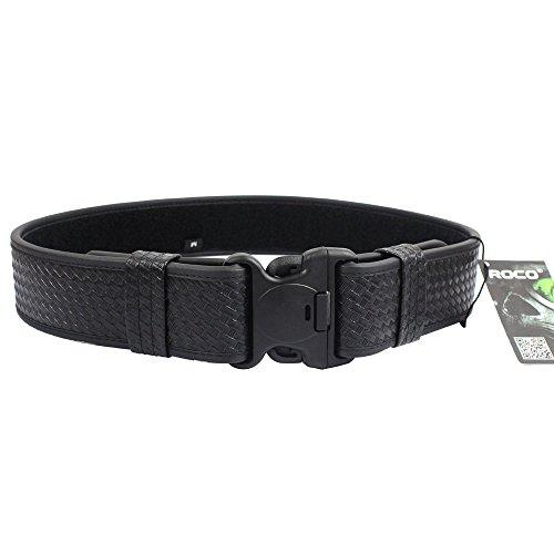 ROCOTACTICAL Basketweave Police Duty Belt, Web Duty Belt with Loop Liner (Large, 40-46)