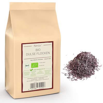 100g BIO Dulse fiocchi - Alghe dulse essiccate e senza additivi - Dulse flakes BIO in confezione biodegradabile