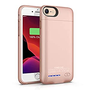 Battery Case For Iphone 66s78se 2020 47 Inch Tayuzh 3000mah Magnetic Portable Extended Battery Case Rechargeable Charging Case External Protective Charger Case For Iphone 6s78 Rose Gold