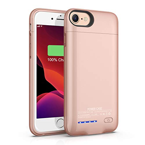 Battery Case for iPhone 6/6s/7/8/SE 2020 (4.7 Inch), TAYUZH 3000mAh Magnetic Portable Extended Battery Case Rechargeable Charging Case External Protective Charger Case for iPhone 6s/7/8 (Rose Gold)