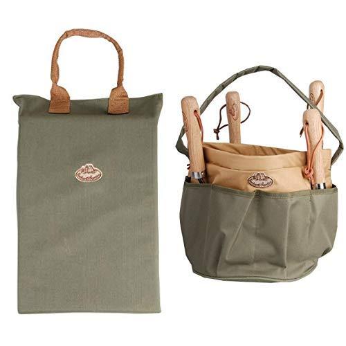 Esschert Design KNEELING PAD oliv, Kniekissen & Design Gartengerätetasche, Rund, grün, 28 x 28 x 26 cm, GT05