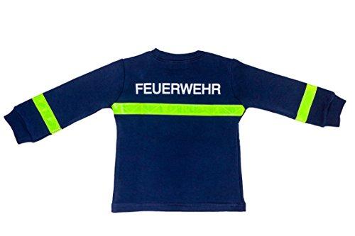 Schlafanzug Kinder Feuerwehrmann Größe 80 86 Blau Baumwolle Druck Feuerwehr Lang Gelbe Reflektoren Fairtrade Ringelsuse - 2