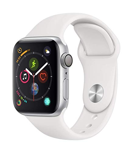 Apple Watch Series 4 (GPS, 40mm) Aluminio en Plata - Correa Deportiva Blanco