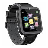 Reloj Inteligente para Niños Smartwatch Niños con Pantalla Táctil de Alta Definición de 1.54 Pulgadas con Llamada Música Juegos Cámara Reloj Niño y Niña, Regalos para Niños de 3 a 12(Negro)