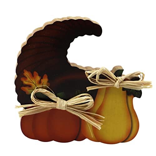 MagiDeal Centrotavola del Raccolto del Raccolto della Figurina Dell'ornamento di Legno di Halloween per Il Festival - Cappello
