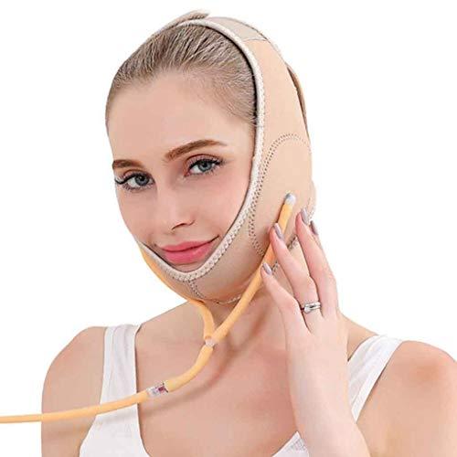 Masque Minceur Visage avec Ceinture Gonflable,Bande Serrée de Levage de Menton de Joue de Visage Normal de V, Visage Amincissant Le Bandage Facial de Masque Facial de Façonnage de Visage