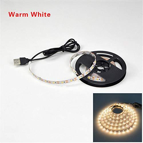 5V 3M USB LED Strip mit SMD 3528 Weihnachtstisch Deko Licht für TV Hintergrundbeleuchtung-gelb