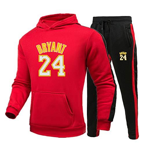 Kobe - Conjunto de sudadera con capucha, 24 unidades, color negro Mamba Memorial de baloncesto para hombre, pantalones con capucha, Laker ropa deportiva al aire libre, juegos de chaqueta A-XXXL
