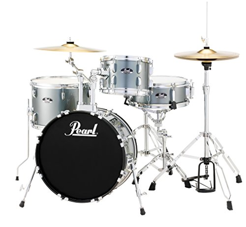 Pearl Roadshow RS584C/C706 4-Piece Drum Set, Charcoal Metallic