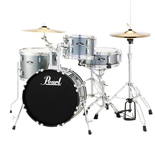 Pearl RS584CC706 Roadshow 4-Piece Drum Set, Charcoal Metallic