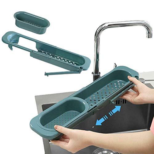 Multifunktionales Küchenteleskopgestell,Teleskop Waschbecken Ablage,Spül Organizer Schmal (C)