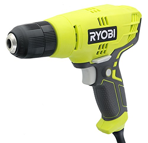 Ryobi D43K 5.5 Amp 3/8 Inch 1,600 RPM Variable Speed Trigger Corded Power Drill