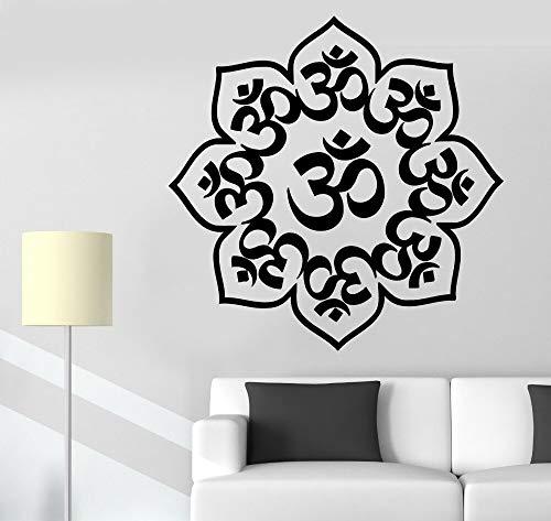 zqyjhkou Special Home Decor Wall Stickers Buddha Chakra Meditation Vinyl Home Stickers 39x39cm