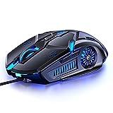 Ratón Gaming con Cable USB de Juego, ratón ergonómico Profesional de 6 Botones , 7 Colores, retroiluminación G5 para Juegos, silencioso ,Ratones Gaming de computadora