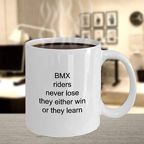 N\A BMX White Coffee Mug White Coffee Mug per BMX Rider BMX Mom Gift Halloween Christmas Thanksgiving Gifts