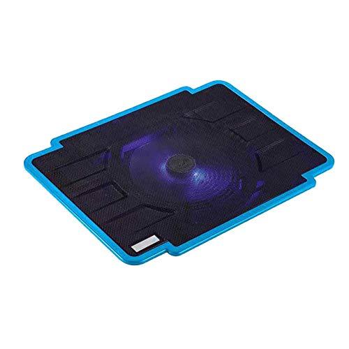 Almohadilla de refrigeración para portátil, almohadilla de ventilador con 1 ventilador de refrigeración/1 puerto USB, para portátil de 14 a 15,6 pulgadas