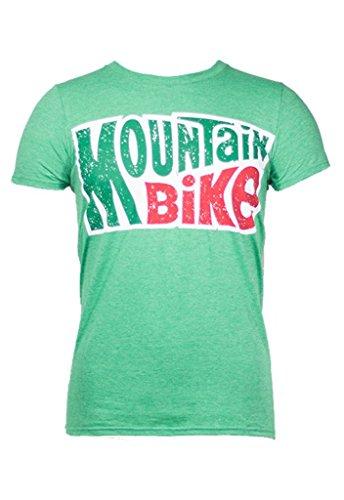Noble Mountain Bike Logo Shirt Cycling - Funny Bicycle T-Shirt for Men (Medium) Green