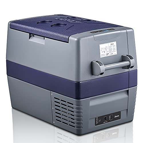 Decen 60 Liter Kompressor-Kühlbox 12/24V und 230V elektrischer Kühlschrank für Camping, Auto oder LKW mit Steckdose und Zigarettenanzünderanschluss