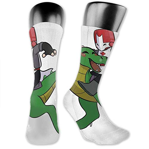 Castle Crashers Red Knight Unisex Fun Novelty Mid-Calf Boot Socks Fashion Breathable Dress Crew Socks