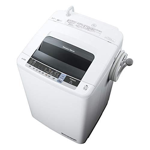 NW-80C-W(ピュアホワイト)白い約束全自動洗濯機上開き洗濯8kg