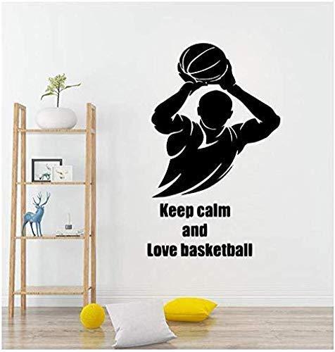 Etiqueta De La Pared Deportes Baloncesto Etiqueta De Navidad Pvc Pvc Pvc Pvc Vinilo Sala De Estar Dormitorio Ventana Principal Baño Oficina Dormitorio Tienda Decoración 42X64Cm
