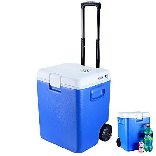 Mini Nevera, refrigeradores de Coche, Paquetes de congeladores portátiles de Gran Capacidad, Varilla de tracción de 30 L con Ruedas, calefacción, enfriamiento
