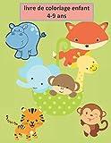 livre de coloriage enfant 4-9 ans: Un livre de jeu et un llivre de coloriage merveilleux pour les enfants de 4 à 12 ans 60 belles images pour des cours de dessin et colorier