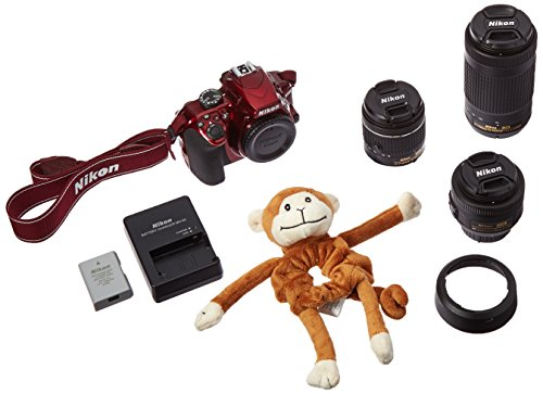 Nikon D3400 24.2 MP Triple Lens Ultimate Parent's Camera Kit, 3.0