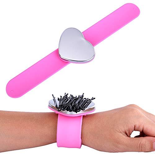 LOANPE Broche magnético en forma de corazón para muñeca con forma de corazón, color rosa