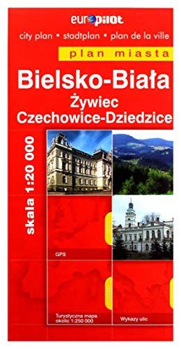 Bielsko-Biała / Żywiec / Czechowice-Dziedzice. Plan miasta w skali 1:20 000