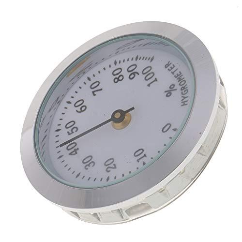 perfk Digitales Zigarren-Humidor-Hygrometer Tragbare Mechanische Humidor Hygrometer für Zigarren - Silber