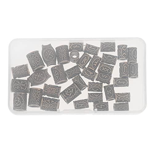 Lurrose 36Pcs Dreadlocks Perles Multicolore en Aluminium Dread Locks Manchettes en Métal Décoration De Tressage Bijoux
