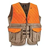 Guide Gear Men's Upland Vest for Bird Hunting, Orange with Back Game Pouch , MEDIUM