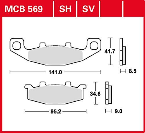 Bremsbelag Lucas MCB569SV für ER-5 Twister ER500AA | ER-5 Twister ER500AB | GPX 600 R ZX600C | GPZ 500 S EX500A | GTR 1000 ZGT00A | KLE 500 LE500A | ZL 600 ZL600B | Ka