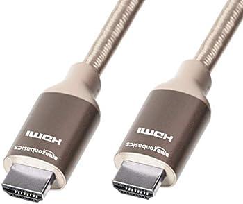 Amazon Basics 10 ft. Nylon-Braided 10.2Gbps High-Speed 4K HDMI Cable