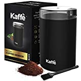 KF2010 Electric Coffee Grinder by Kaffe - Black 2.5oz Capacity with Easy On/Off Button. Cleaning...