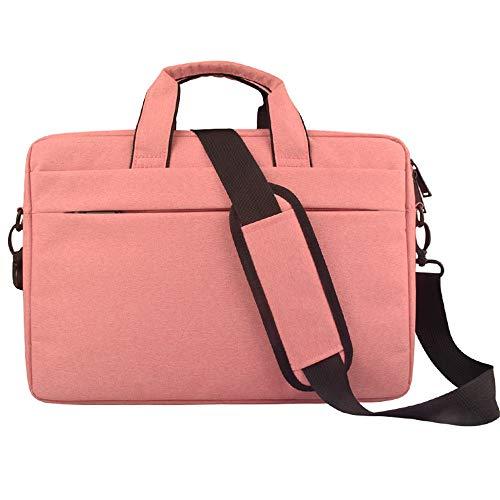 For Dell HP Asus MacBook Lenovo 15.6 Inch Laptops Waterproof Laptop Sleeve Case Bag Shoulder Bag (15.6 Inch Bag, Pink)