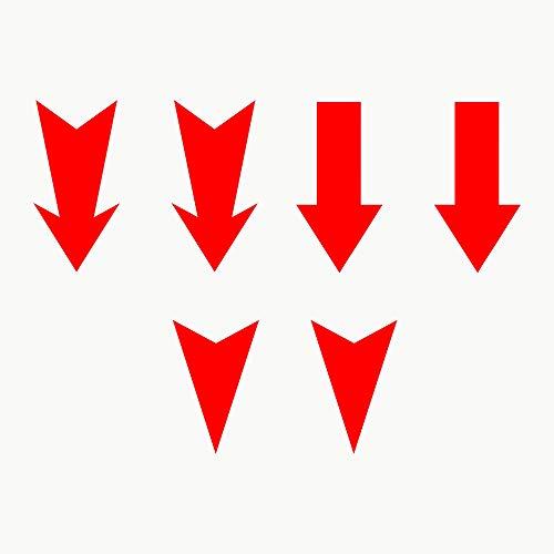 Autodomy Pegatinas Flecha Enganche Gancho Remolque Tow Rally Pack 6 Unidades para Coche (Rojo)