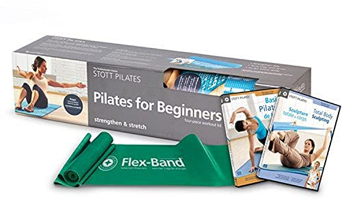 STOTT PILATES Pilates for Beginners Kit, 2nd edition with Mat (0.25 inch /...